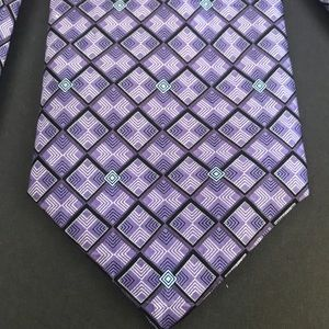 Carlos Devenezia 100% Silk Purple print Tie